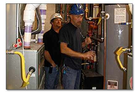 Men providing furnace repair in Meridian, ID